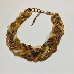 Jewelry - Multi strand woven chunky chain necklace